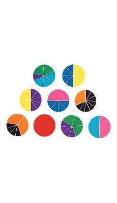 51 cercles fractions (diamètre 9cm) en PVC