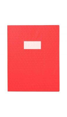 Protège-cahiers en PVC 17 x 22 cm série opaque, coloris rouge - Paquet de 30