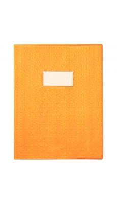 Protège-cahiers en PVC 17 x 22 cm série opaque, coloris orange - Paquet de 30