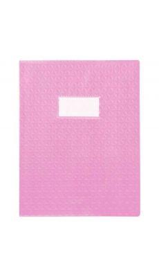 Protège-cahiers en PVC 17 x 22 cm série opaque, coloris rose - Paquet de 30