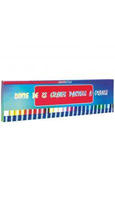 MAJUSCULE - 22719 - Boîte de 25 pastels à l'huile. Couleurs assorties