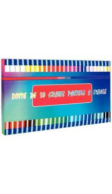 MAJUSCULE - 22720 MAJU - Boîte de 50 pastels à l'huile. Couleurs assorties
