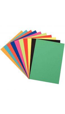 Paquet de 100 feuilles à dessin de couleurs 50X65 250G