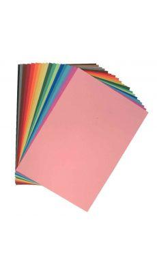 Feuilles papier de couleurs 24x32 160g couleur assortis - Paquet de 250