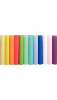 MAILDOR - 94199C - Paquet de 12 feuilles calque couleur assortis A4