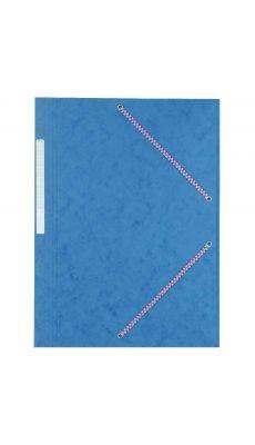 Chemise 3 rabats à élastiques. Coloris : Bleu. Carte lustrée 7/10 ème. 600g