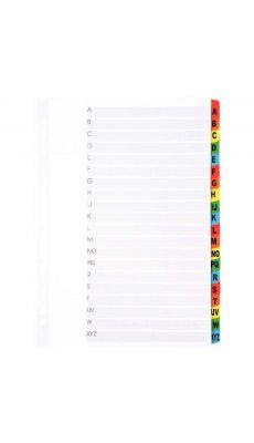 Intercalaires alphabétiques 20 touches, A à Z, format A4+