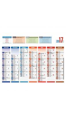 Bouchut grandremy - 000726 - Calendrier 7 mois sur chaque face 4 saisons 21x26.6 cm