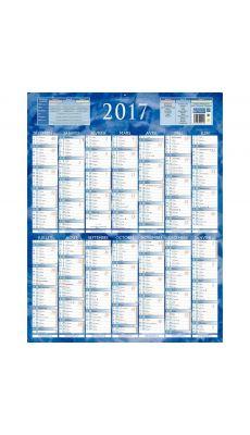 Bouchut grandremy - 002126 - Calendrier annuel 1 face 55x43 cm - Bleu