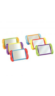 Boîte de 6 miroirs rectos verso couleur assortis