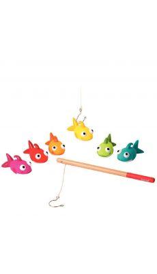 La pêche aux poissons et ses 2 cannes