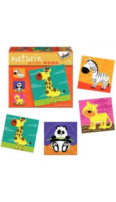 "Puzzles progressifs Naturin ""Les animaux de la jungle"" - Boite de 4"