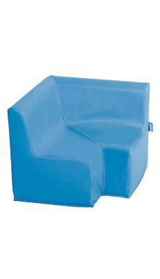 Chauffeuse angle 90° PVC Bleu