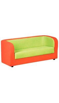 Sofa 3 places tissu 120 x 50 x 50 Orange et Vert