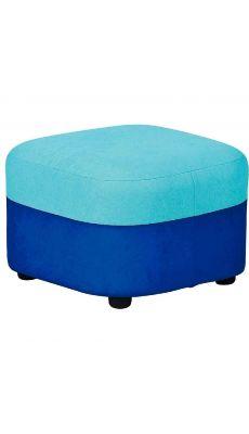 Pouf géant tissu 40 x 40 x 30 Bleu foncé et Turquoise