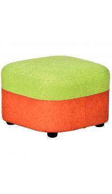 Pouf géant tissu 40 x 40 x 30 Orange et Vert