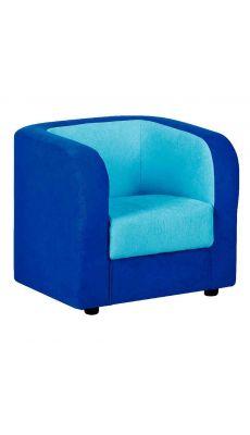 Fauteuil tissu 52 x 59 x 54 Bleu foncé et Turquoise