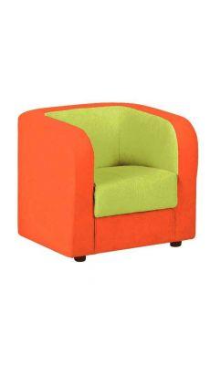 Fauteuil tissu 50 x 59 x 54 Orange et vert