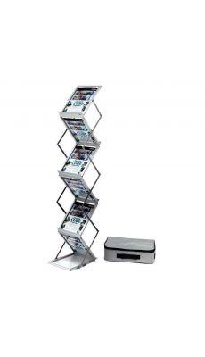 Deflecto - 36100 - Porte brochures sur pied 6 niveaux pliable