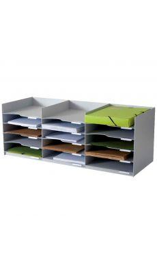 PAPERFLOW - 535.02 - Bloc 15 cases 24x32 gris