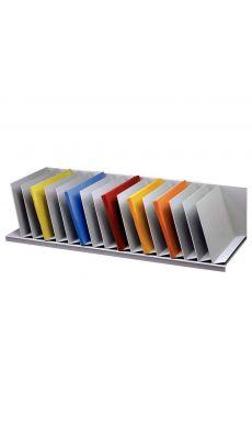 PAPERFLOW - 2040.02 - Trieur 16 cases inclinées gris