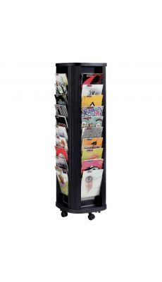 PAPERFLOW - 273.01 - Présentoir mobile Carrousel de 40 cases en polystyrène