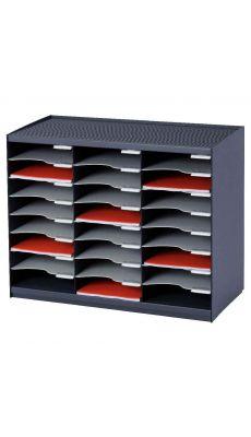 PAPERFLOW - 802.11 - Trieur monobloc 24 cases anthracite / gris