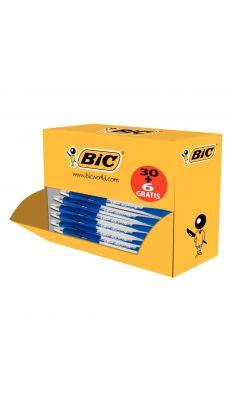 BIC - 920951 - Pack de 36 Stylos Atlantis pointe moyenne bleu dont 6 gratuits