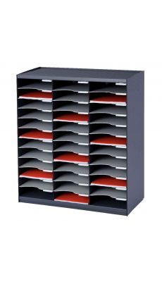 PAPERFLOW - 803.11 - Trieur monobloc 36 cases anthracite / gris