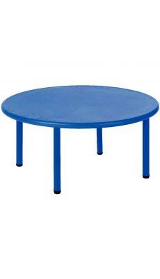 Table Ronde diamétre 115cm 8 places Bleue