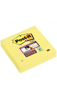 POST-IT - Bloc de 90 feuilles Super Sticky post-it, 76 x 76 mm, couleur : jaune