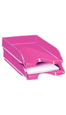 CEP - 200+G - Corbeille a courrier fond plein gloss rose pepsy