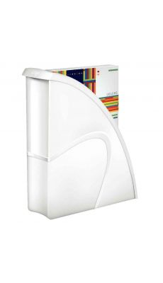 CEP - 674+G - Porte-revues en polystyrène gloss blanc dos 8.5cm