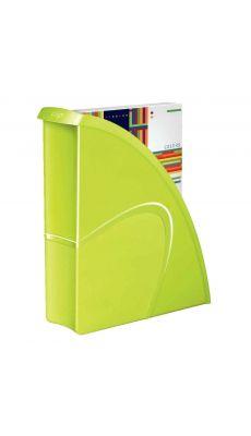 CEP - 674+G  - Porte-revues en polystyrène gloss vert anis dos 8.5cm