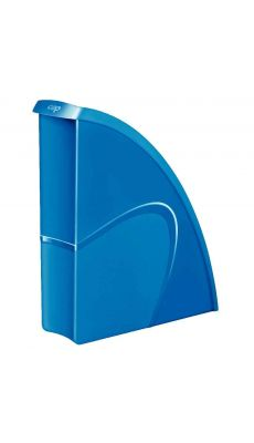 CEP - 674+G - Porte-revues en polystyrène gloss bleu océan dos 8.5cm
