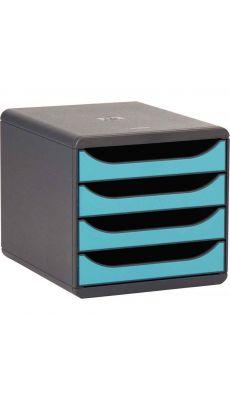 Exacompta - 310782D - Module 4 tiroirs ouvert big box turquoise
