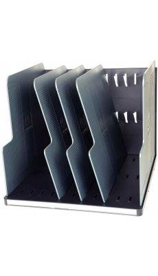 Exacompta - 390714D - Trieur modulotop 5 séparateurs noir et gris