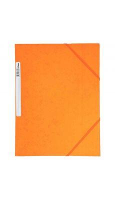 Chemise 3 rabats à elastique + etiquette grainée orange