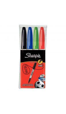 SHARPIE - Marqueur Sharpie ogive PF coloris assortis Noir/bleu/rouge/vert