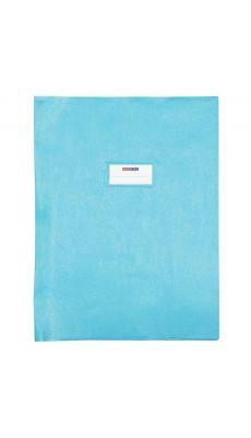 Protège cahier en PVC série Opaque, format 24 x 32 cm. Qualité supérieure, épaisseur 21/100è. Coloris bleu clair