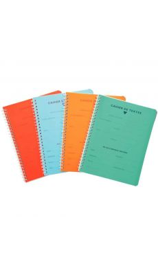 Clairefontaine - 458460C - Cahier texte spirale - 124 Pages - 17x22 cm