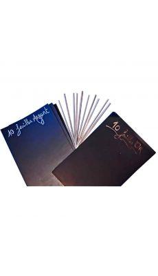 Feuilles à gratter or et argent, 10 x 15 cm ( format carte postale ) - Pochette de 20