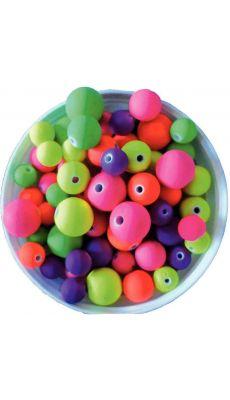 Perles rondes en plastique opaque - Pot de 100g
