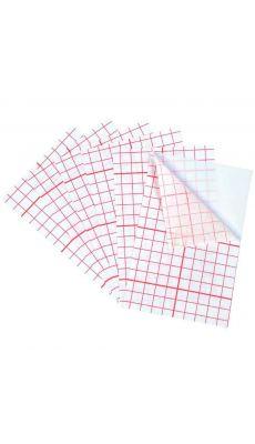 Feuilles de polyphane adhésif. Dimensions (L xl) : 10 x 14 cm - Lot de 6