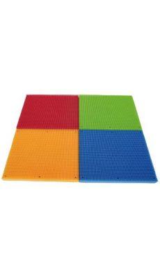 Plaques de base pour le jeu de construction ref:23446 - Lot de 4