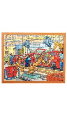 """Puzzle """"la chaine de production"""", 120 pièces"""