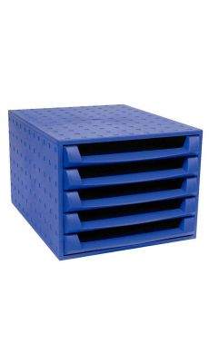 Exacompta - 221101D - Module de 5 tiroirs ouvert bleu