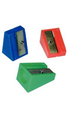 LOCAU - 853012 - Taille crayons 1 usage plastique, coloris assortis