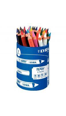 OMYACOLOR - 3623360 - Crayons de couleur Lyra Ferby triangulaires gros module - Pot de 36
