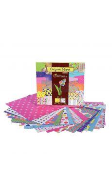 Pochettes de 60 feuilles 20x20cm, papier origami 70g